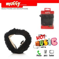 Codegen Muffy MF-014 Mikrofonlu SİYAH PELUŞ Kulaklık