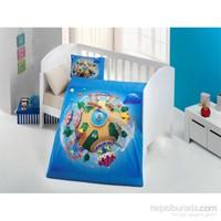 Evimemoda 3D Dijital Baskı Bebek Nevresim Takımı - Blue