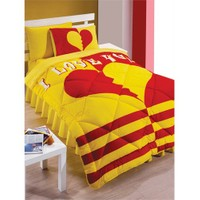 Kupon Home Taraftar Genç Grubu Uyku Seti - Sarı Kırmızı Galatasaray