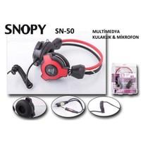 Snopy Sn-50 Kafabantli Mikrofonlu Kulaklik, Kırmızı