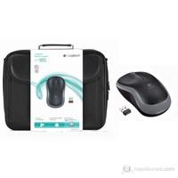"Logitech Mobile Traveler 15.6"" Siyah Notebook Çantası + Logitech® M185 Kablosuz Mouse"