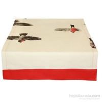 Yastıkminder Koton Kuşlu Beyaz Runner