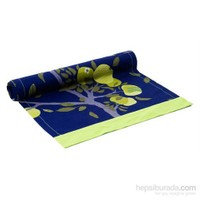 Yastıkminder Koton Lacivert Fıstık Meyve Desen Runner
