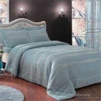 Taç Dreamy Çift Kişilik Polyester Mavi Yatak Örtüsü