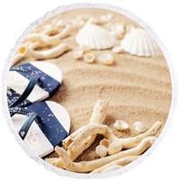 Nefnef Home 3D Summer Collection Yuvarlak Saçaklı Plaj Havlusu