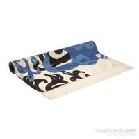Yastıkminder Koton Mavi Siyah Desenli Runner