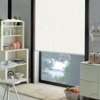Taç Polyester Işık Geçirmez Blackout Karartma Stor Perde Beyaz 110X260 Beyaz
