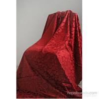 Special Home Tay Tüyü Koltuk Ve Çekyat Örtüsü Koyu Kırmızı