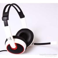 Snopy SN-792 Beyaz Mikrofonlu Kulaküstü Kulaklık