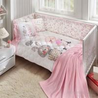 Taç Battaniyeli Bunny Pembe Bebek Uyku Seti