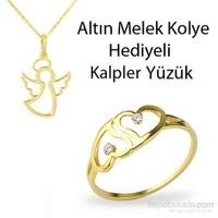 Ejoya Kalplerimiz Altın Yüzük Hk1008