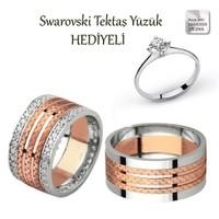 Ejoya Gümüş Çift Alyans P1057