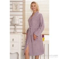 Rosemus Solid Kimono Bornoz Lila