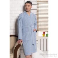 Rosemus Solid Kimono Bornoz Mavi