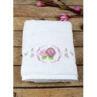 Mary Case 50X90 Havlu Gülbahçesi Beyaz