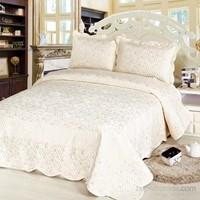 Cotton House Home Collection Nubuk Varaklı İmra Çift Kişilik Yatak Örtüsü - Silver