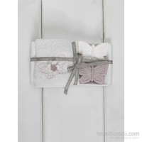 Ladinne Adora Hediye Havlu Seti Beyaz 30X50 Cm