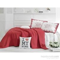 Evim Home Exclusive Ranforce Tek Kişilik Pike Takımı Twin Kırmızı