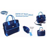 """Addison 300795 14"""" Mavi Bayan Bilgisayar Notebook Çantası"""