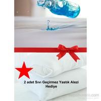 Alla Turca Sıvı Geçirmez Alez Tek Kişilik-Yatak Koruyucu-2 Adet Yastık Alezi Hediyeli