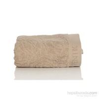 Yastıkminder Koton Bej 48X68 Gül Desen Havlu