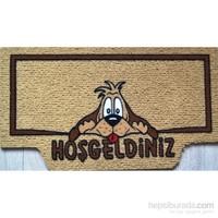 Giz Home İtalyan Kokardo Kapı Paspası 40X70 Happy Dog