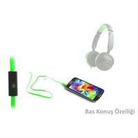 Snopy Sn-045 Siyah/Yeşil Mikrofonlu Kulaklık