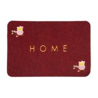 Giz Home Nakışlı/Brode Kapı Paspası 40X60 Kırmızı Baykuş