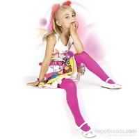 Pierre Cardin Mikrofiber Çocuk Külotlu Çorap Aida Kız Çocuk Fuşya