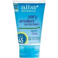 Alba Botanica Very Emollient Sunscreen - Sport Broad Spectrum Spf45
