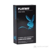 Playboy Ribbed (Doruk) Uyarıcı Yüzeyli Kremli 12'li Prezervatif