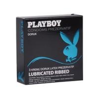 Playboy Ribbed (Doruk) Yüzeyli Kremli 3'lü Prezervatif