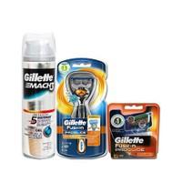 Gillette Fusion Proglide Power Flexball 1Up Makine+ 2 Yedek + Jel