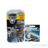 Gillette Mach-3 Turbo Makine + 13 Başlık