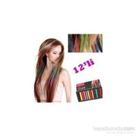 Saç Tebeşiri Seti - 12 Renk
