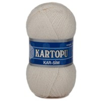 Kartopu Kar-Sim Beyaz El Örgü İpi - K025