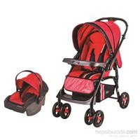 Johnson Lotus Çift Yönlü Seyahat Sistem Bebek Arabası / Kırmızı - Siyah