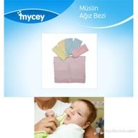 Mycey 6'lı Müslin Kumaş Ağız Bezi Seti / Karışık Renk