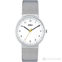 Braun Metal Kayışlı Klasik Kadın Kol Saati Beyaz - Bn0031whslmhl