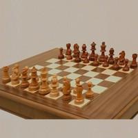 Satranç Ahşap Satranç Taşları Şah Boyu 95 Mm