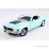 Motormax 1:18 1970 Ford Mustang Boss 429 -Mavi Model Araba