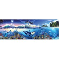 Masterpieces 1000 Parça Panoramik Puzzle The Blue World