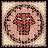Mozaik Burçlar Serisi Aslan