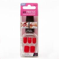 New Kiss İmpress Presson Manicure 24 Nails Color Kendinden Yapışkanlı Takma Tırnak