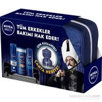 Nivea Men Çantalı set (Duş+deo+köpük)