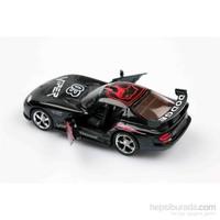Siyah Dodge Viper 1/36 Çek Bırak Die-Cast Model Araç