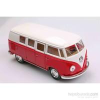 Kırmızı 1962 Volkswagen Classical Bus 1/32 Çek Bırak Die-Cast Model Araç