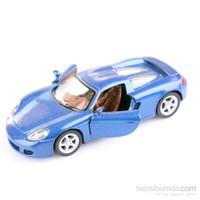 Mavi Porsche Carrera Gt 1/36 Çek Bırak Die-Cast Model Araç