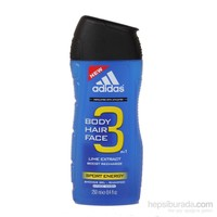Adidas Duş Jeli King 3in1 Sport Energy 250 ml.