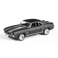 Mat Siyah 1969 Chevrolet Camaro Ss 1/36 Çek Bırak Die Cast Model Araç